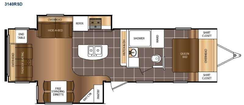 Floorplan - 2015 Prime Time RV Tracer 3140RSD
