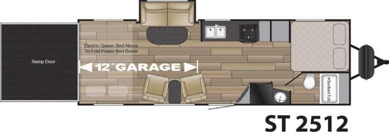 Floorplan - 2016 Cruiser Stryker ST-2512