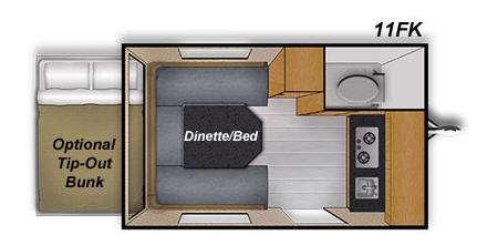 Floorplan - 2015 Livin Lite CampLite CL11FK