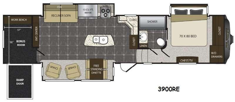 Floorplan - 2015 Keystone RV Alpine 3900RE