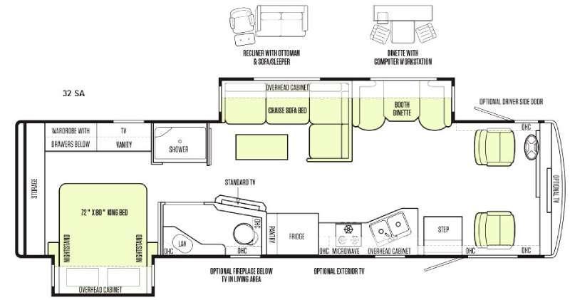 Floorplan - 2015 Tiffin Motorhomes Allegro 32 SA