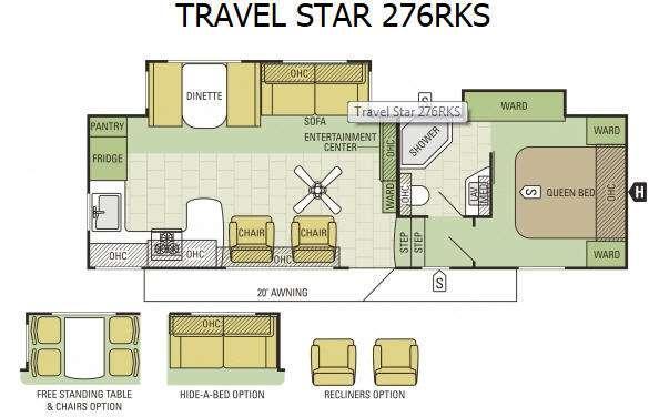 Floorplan - 2015 Starcraft Travel Star 276RKS