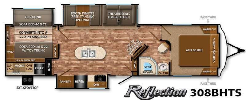 Floorplan - 2015 Grand Design Reflection 308BHTS
