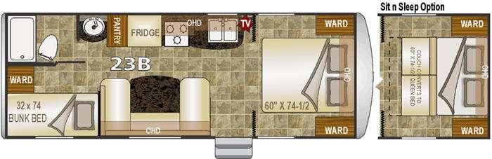 Floorplan - 2015 Northwood Nash 23B
