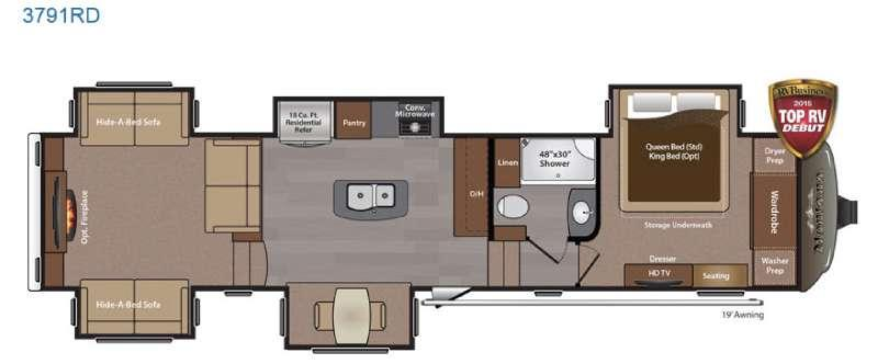 Floorplan - 2015 Keystone RV Montana 3791 RD