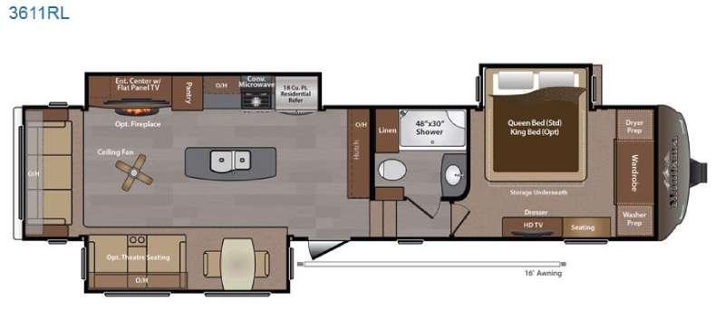 Floorplan - 2015 Keystone RV Montana 3611 RL