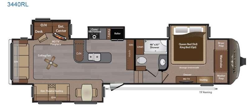 Floorplan - 2015 Keystone RV Montana 3440 RL