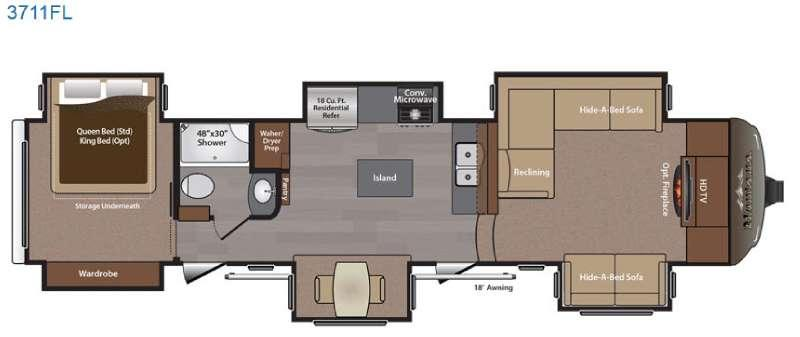 Floorplan - 2015 Keystone RV Montana 3711 FL