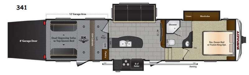 Floorplan - 2015 Keystone RV Impact 341