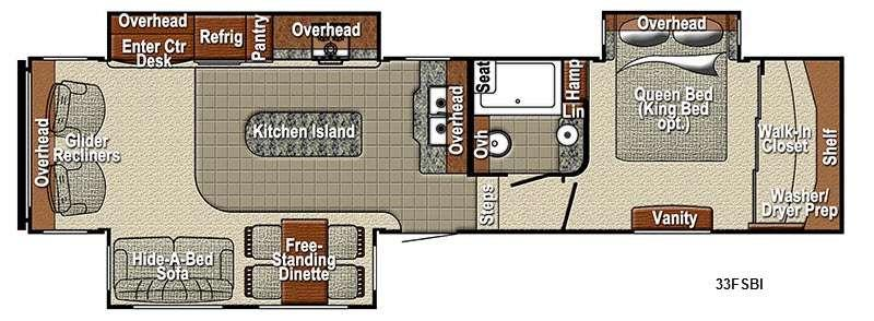 Floorplan - 2015 Yellowstone RV Sedona 33FSBI Advanced Profile