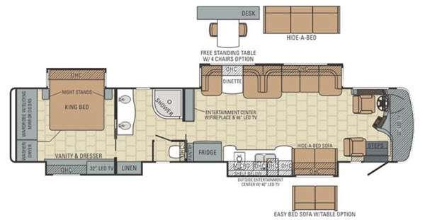Floorplan - 2015 Entegra Coach Anthem 44DLQ