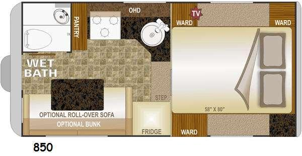 Floorplan - 2015 Northwood Wolf Creek 850
