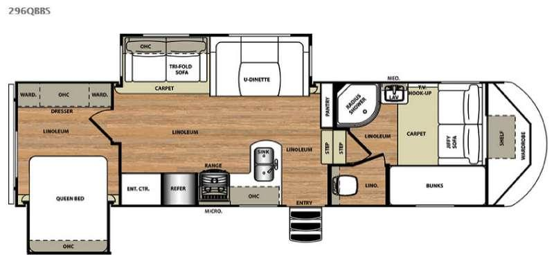Floorplan - 2015 Forest River RV Salem Hemisphere Lite 296QBBS