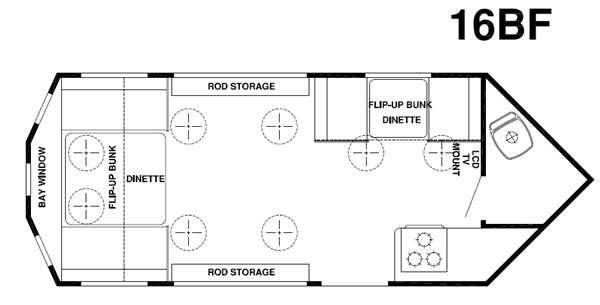 Floorplan - 2015 Forest River RV Ice Cave 16BF