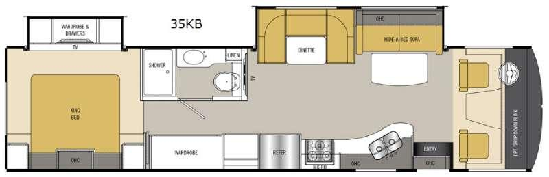 Floorplan - 2015 Coachmen RV Mirada 35KB