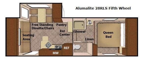 Floorplan - 2015 Livin Lite Aluma Lite 28RLS