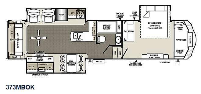 Floorplan - 2015 Forest River RV Sierra 373MBOK