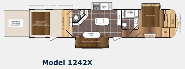 Floorplan - 2015 Prime Time RV Spartan 1242X