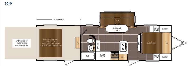 Floorplan - 2015 Prime Time RV Spartan 300 Series 3010