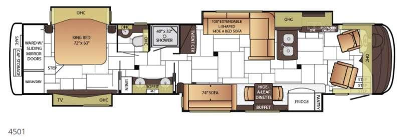 Floorplan - 2015 Newmar King Aire 4501