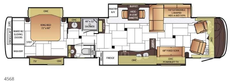 Floorplan - 2015 Newmar King Aire 4568