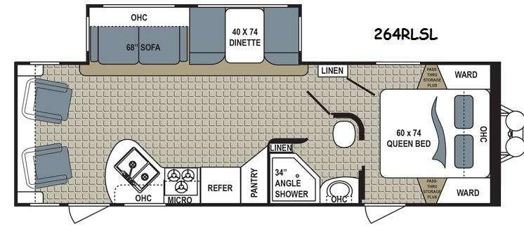 Floorplan - 2015 Dutchmen RV Kodiak 264RLSL Express