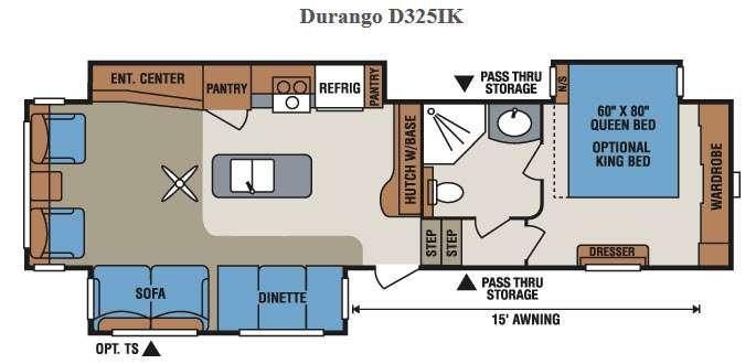 Floorplan - 2015 KZ Durango D325IK