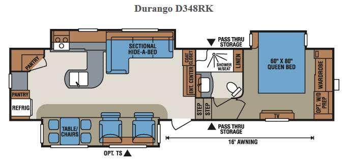 Floorplan - 2015 KZ Durango D348RK