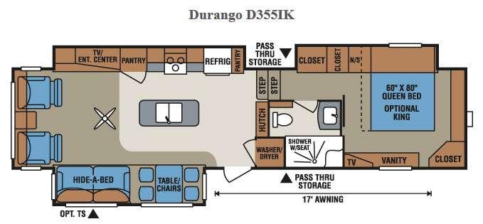 Floorplan - 2015 KZ Durango D355IK