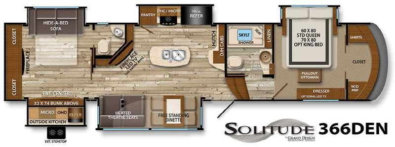 Floorplan - 2015 Grand Design Solitude 366DEN