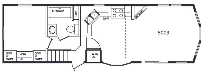 Floorplan - 2015 Kropf Industries Lakeside Series 8009