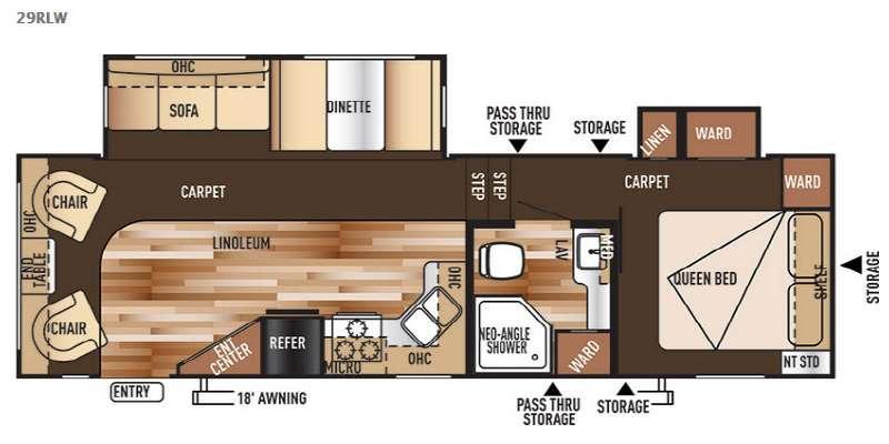 Floorplan - 2015 Forest River RV Wildwood 29RLW