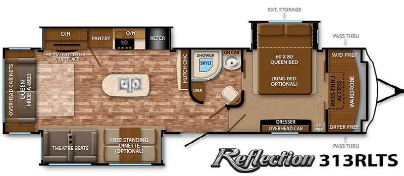 Floorplan - 2015 Grand Design Reflection 313RLTS