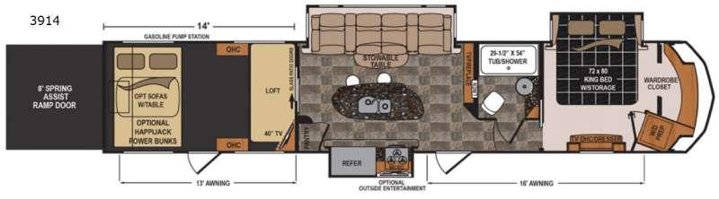Floorplan - 2015 Dutchmen RV Voltage V3914