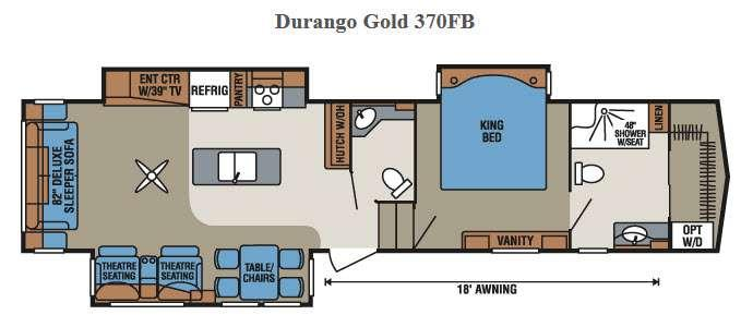 Floorplan - 2015 KZ Durango Gold 370FB