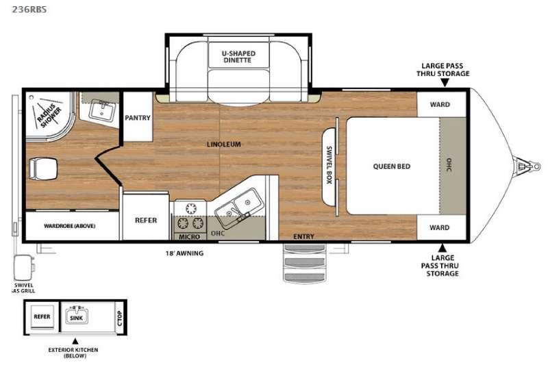 Floorplan - 2015 Forest River RV Vibe Extreme Lite 236RBS