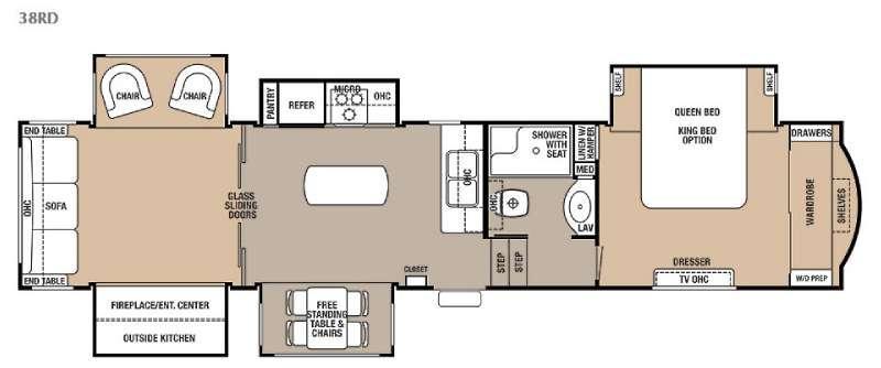 Floorplan - 2015 Forest River RV Cedar Creek 38RD