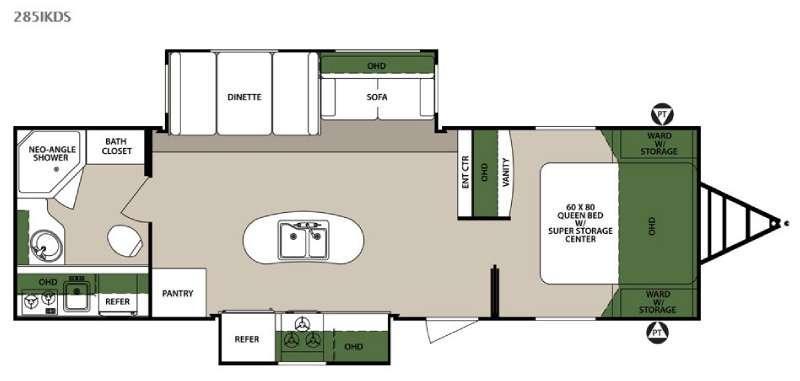 Floorplan - 2015 Forest River RV Surveyor 285IKDS