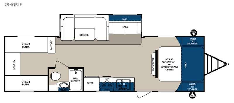 Floorplan - 2015 Forest River RV Surveyor 294QBLE