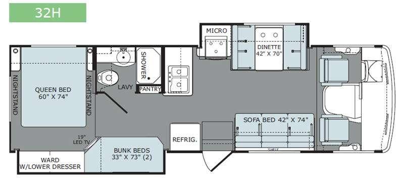 Admiral 32H Floorplan Image