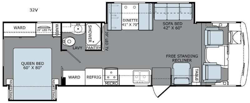 Floorplan - 2016 Holiday Rambler Admiral 32V