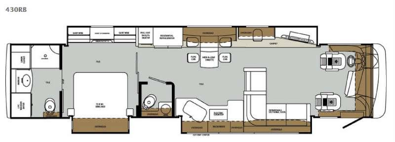 Floorplan - 2015 Forest River RV Charleston 430RB