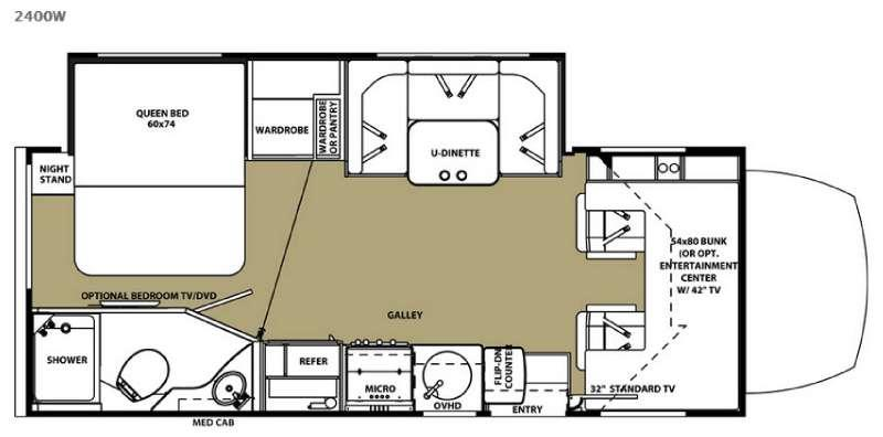 Sunseeker MBS 2400W Floorplan Image