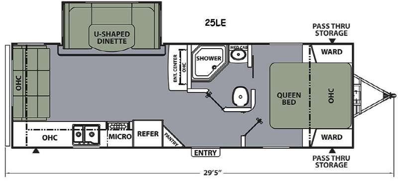 Floorplan - 2015 Coachmen RV Apex Ultra-Lite 25LE
