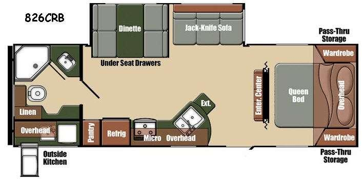 Floorplan - 2015 Gulf Stream RV Northern Express 826CRB