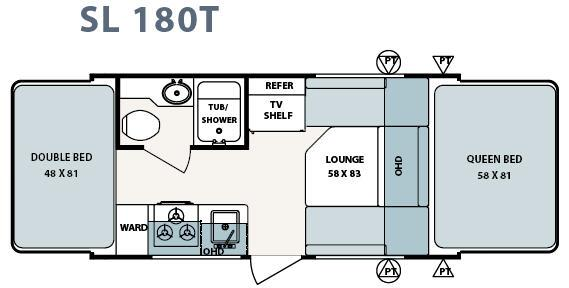 Floorplan - 2006 Forest River RV Surveyor SL 180T