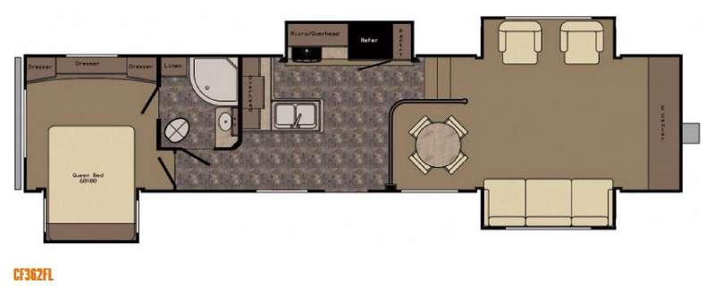 Floorplan - 2015 CrossRoads RV Cruiser CF362FL