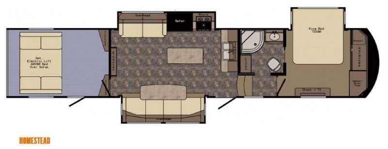 Floorplan - 2015 CrossRoads RV Elevation Homestead