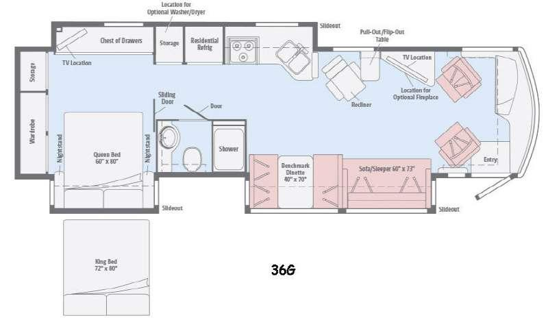 Floorplan - 2015 Winnebago Forza 36G