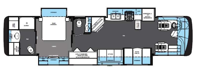 Floorplan - 2015 Forest River RV Berkshire 38A